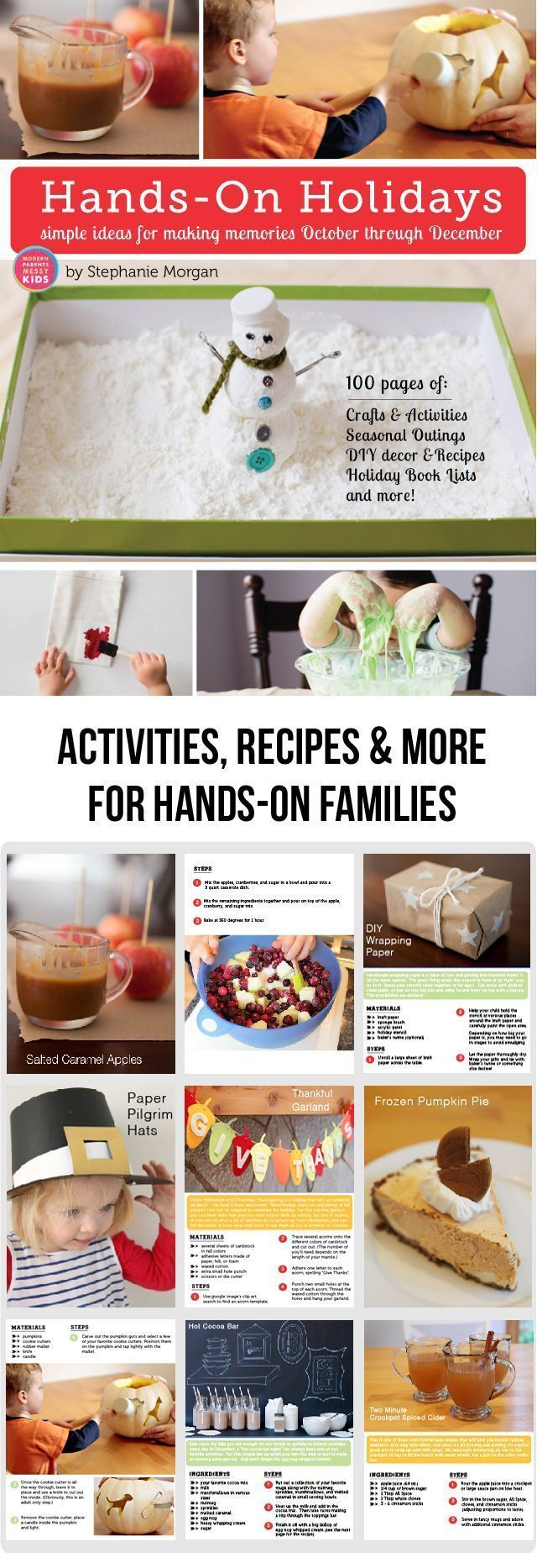 Hands-On Holidays: Simple Ideas for Making Memories October through December! Hands-On Holidays: Simple Ideas for Making Memories October through December - The littles and I had so much fun working our way through this last holiday season. The recipes and crafts are totally doable and we loved the book lists!