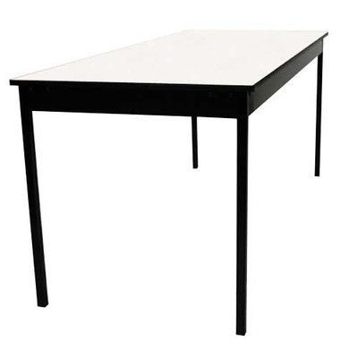 """Maywood Furniture Deluxe Series Rectangular Folding Table Size: 29"""" H x 72"""" W x 18"""" D, Finish: Black/Silver"""