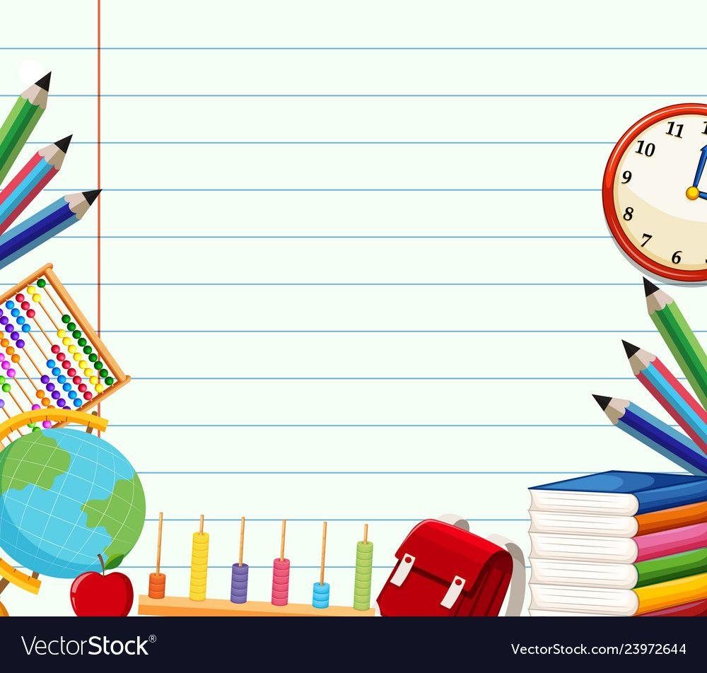 School Themed Background Template Illustration Download A Free Preview Or High Quality Adobe Illustrator Ai Eps Pdf A Seni Buku Papan Tulis Kapur Pendidikan