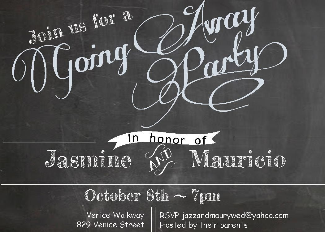 Going Away Party invitations NEW selections winter 2016
