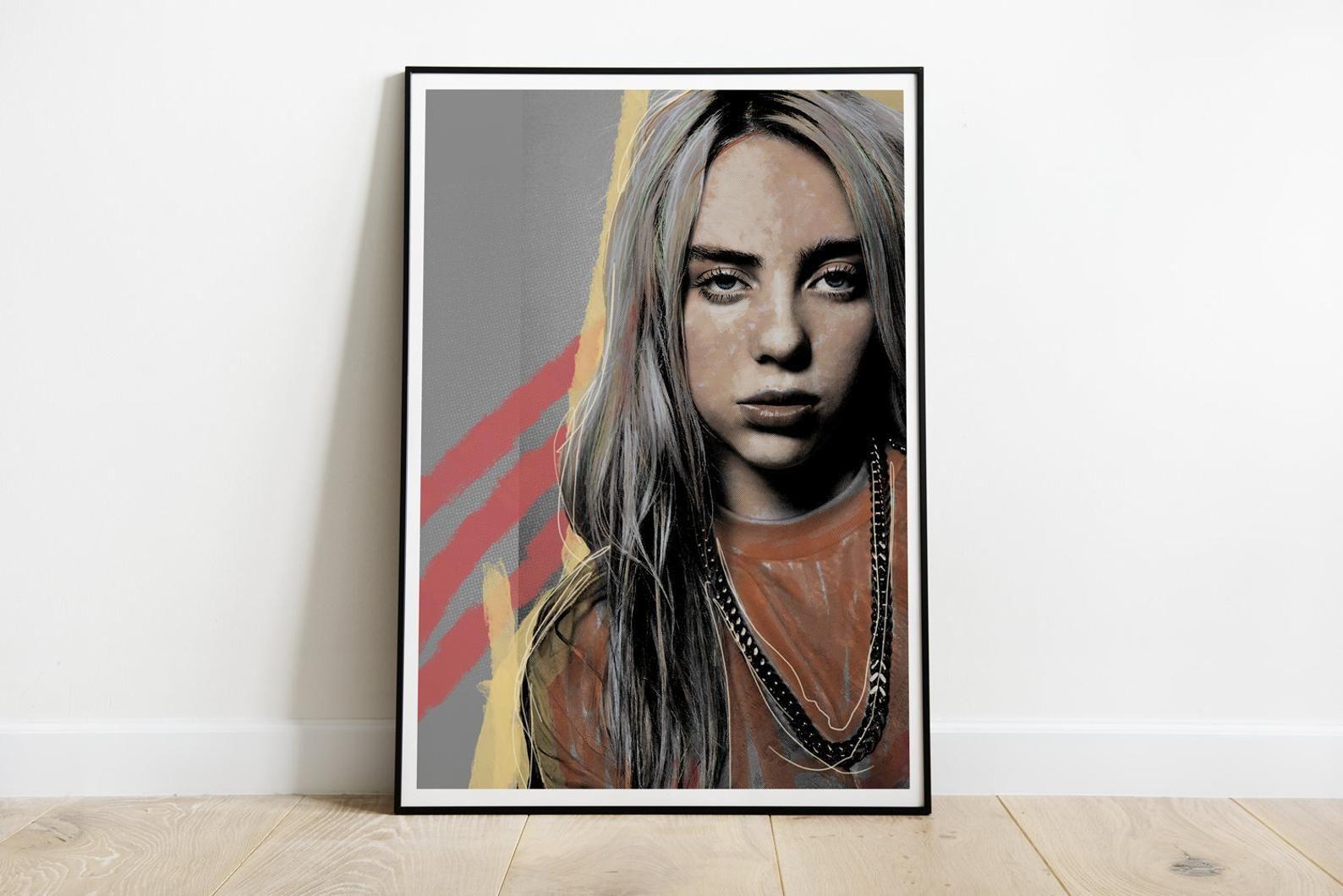 Billie Eilish Pop Music Singer Art Fabric HD Print Poster Wall Decor Multi Sizes