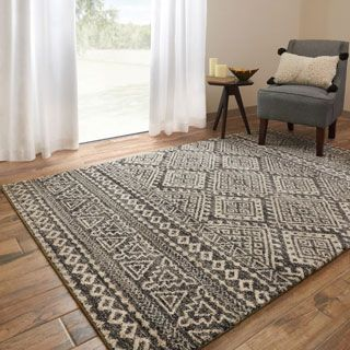 Shop For Brently Graphite Ivory Geometric Rug 5 3 X 7 7 Get Free Shipping At Overstock Com Your Online Home D Geometric Rug Alexander Home Rugs On Carpet