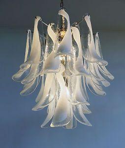 ITALIAN vintage Murano lampadario nel modo di Mazzega LA MURRINA ...