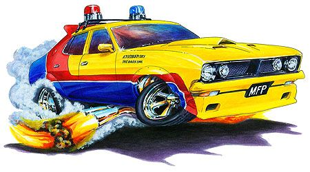 3603a06f Madd Doggs Mad Max MFP Police Car Muscle Car T-Shirts and Apparel ...