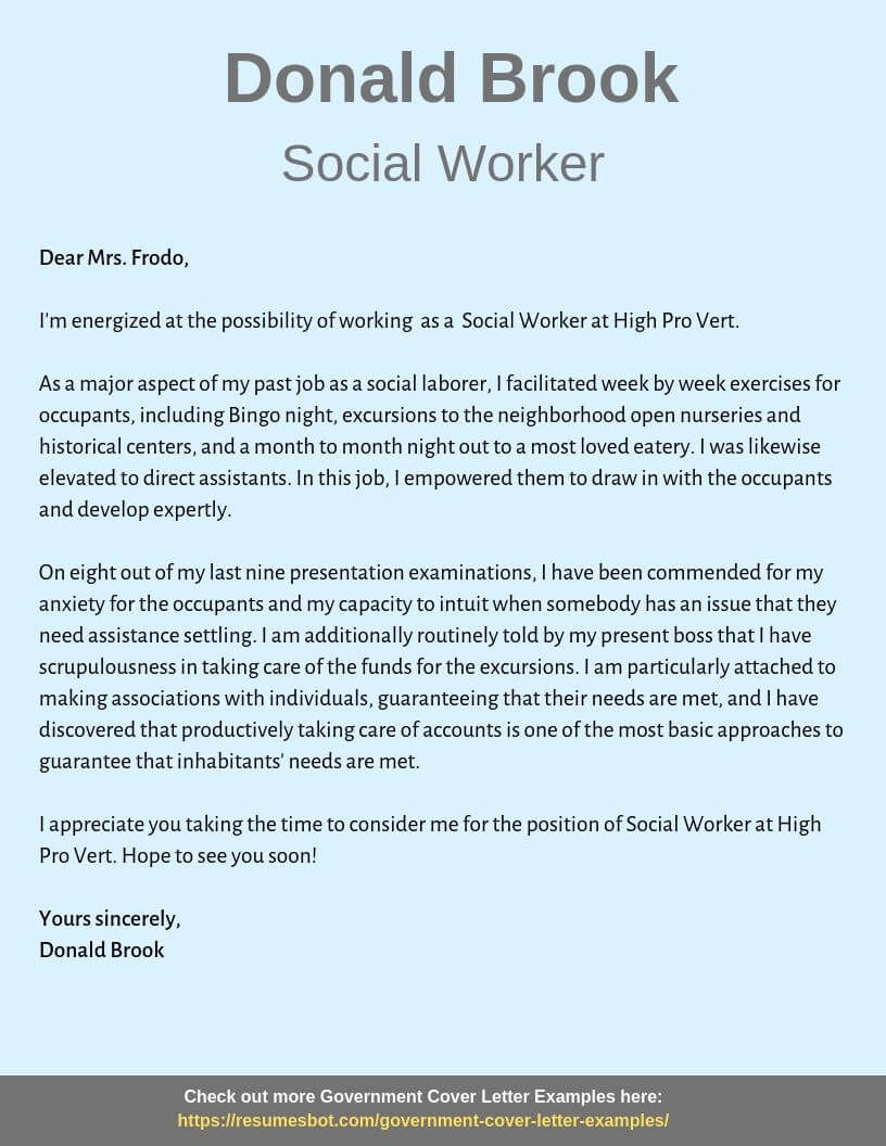 Social Worker Cover Letter Samples Templates Pdf Word 2020