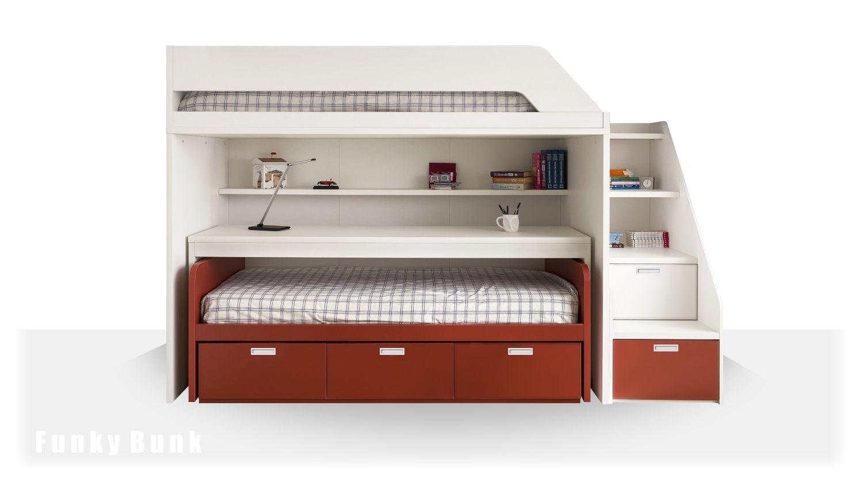 bunk desk bed, desk bunk bed, desk bed, storage, drawers, | Bunk ...