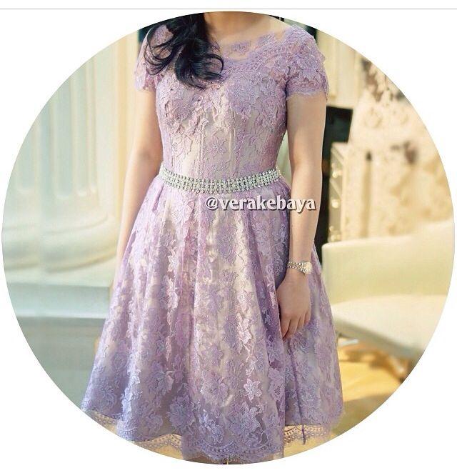Vera Kebaya Purple Dress Fashion Kebaya Dress Kebaya Lace
