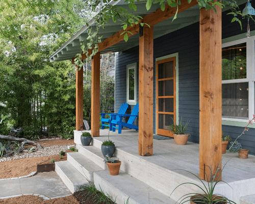 Contemporary Cedar Porch Post Wraps Front Porch Decorating