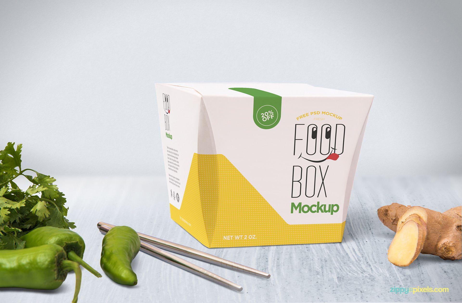 Free Realistic Lunch Box Mockup