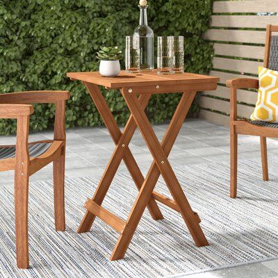 Langley Street Arianna Solid Wood Bistro Table Products In 2019