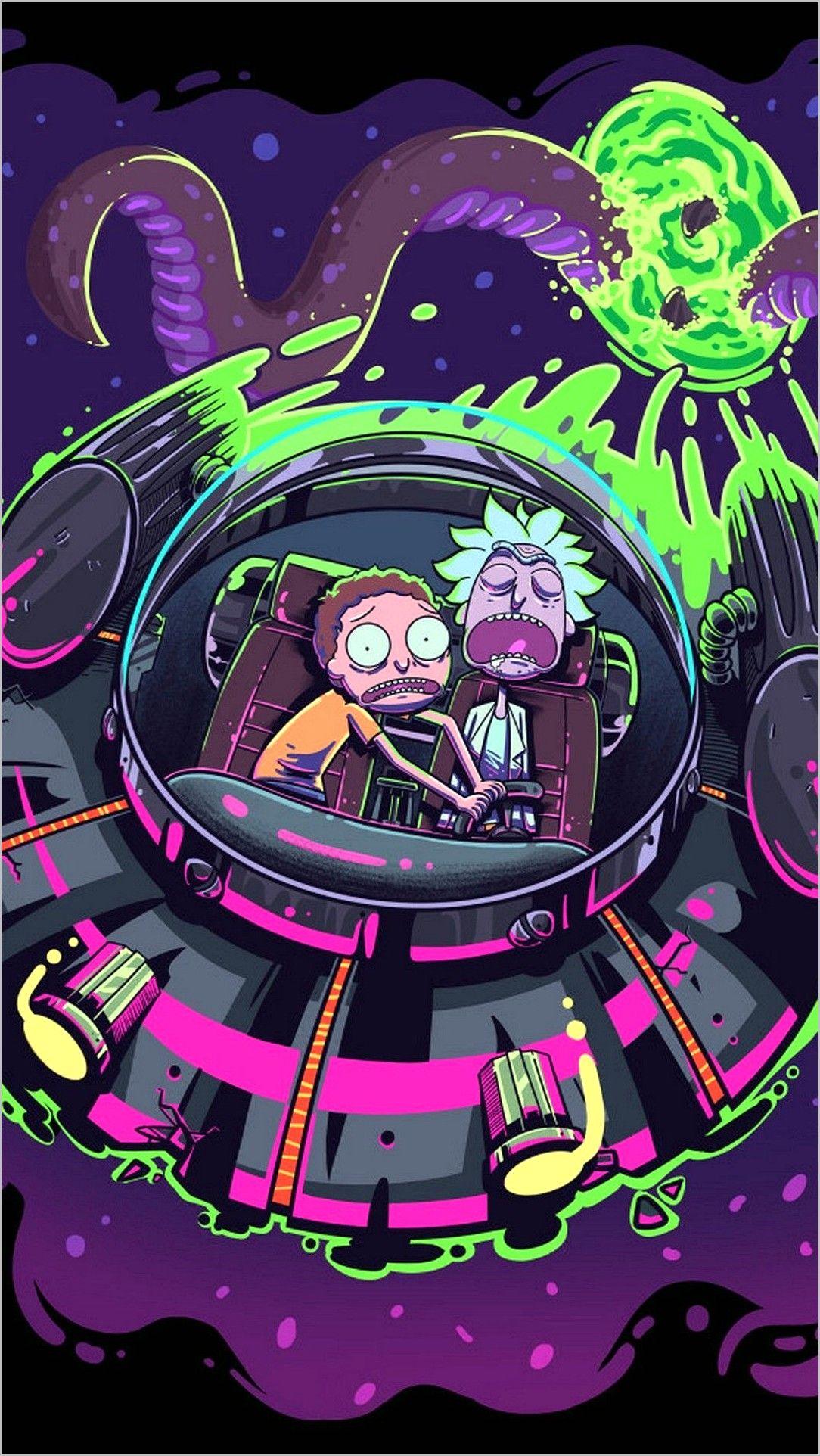 Wallpapers 4k Rick E Morty In 2020 Cartoon Wallpaper Trippy Wallpaper Anime Wallpaper