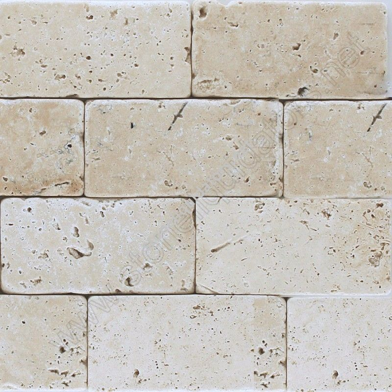 3 X 6 Baja Cream Travertine Subway Tile Tumbledlove This Look