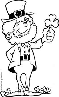 Printable St Patricks Day Leprechaun Coloring Pages For Kids Print Out Preschoolfree Clipart
