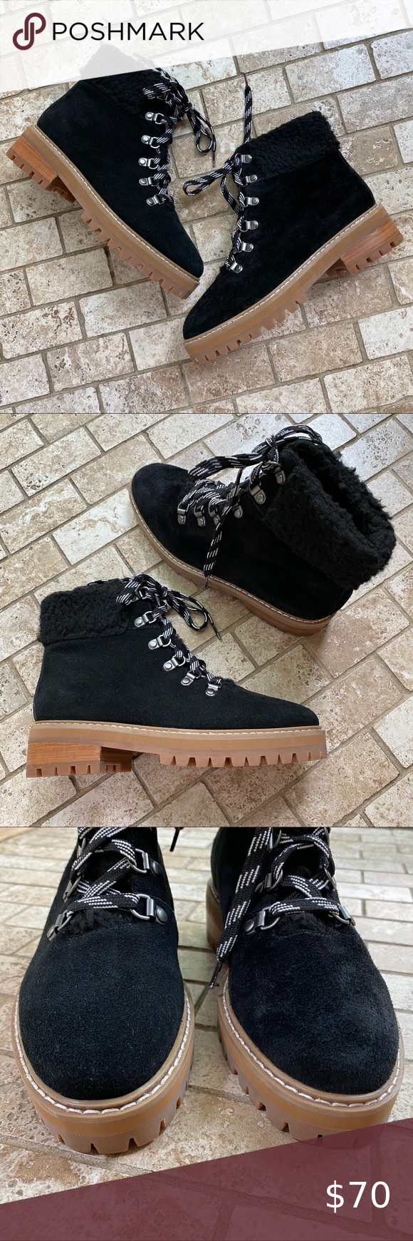Renvy Myra Hiking Boots Black suede