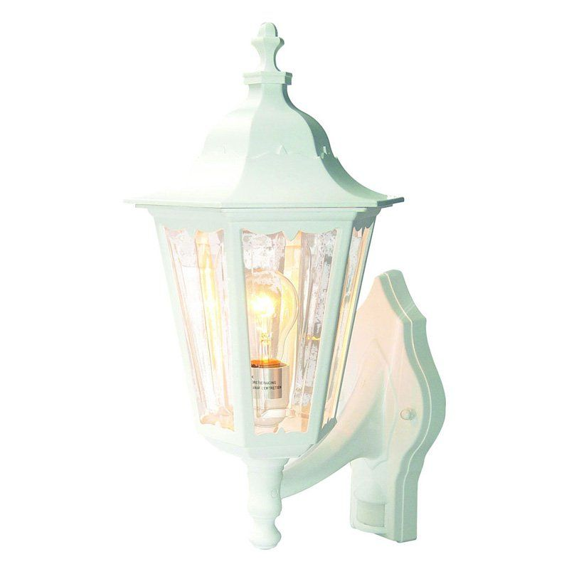 Heath//Zenith HZ-4191-WH MOTION Activated Country Cottage Outdoor Wall Light