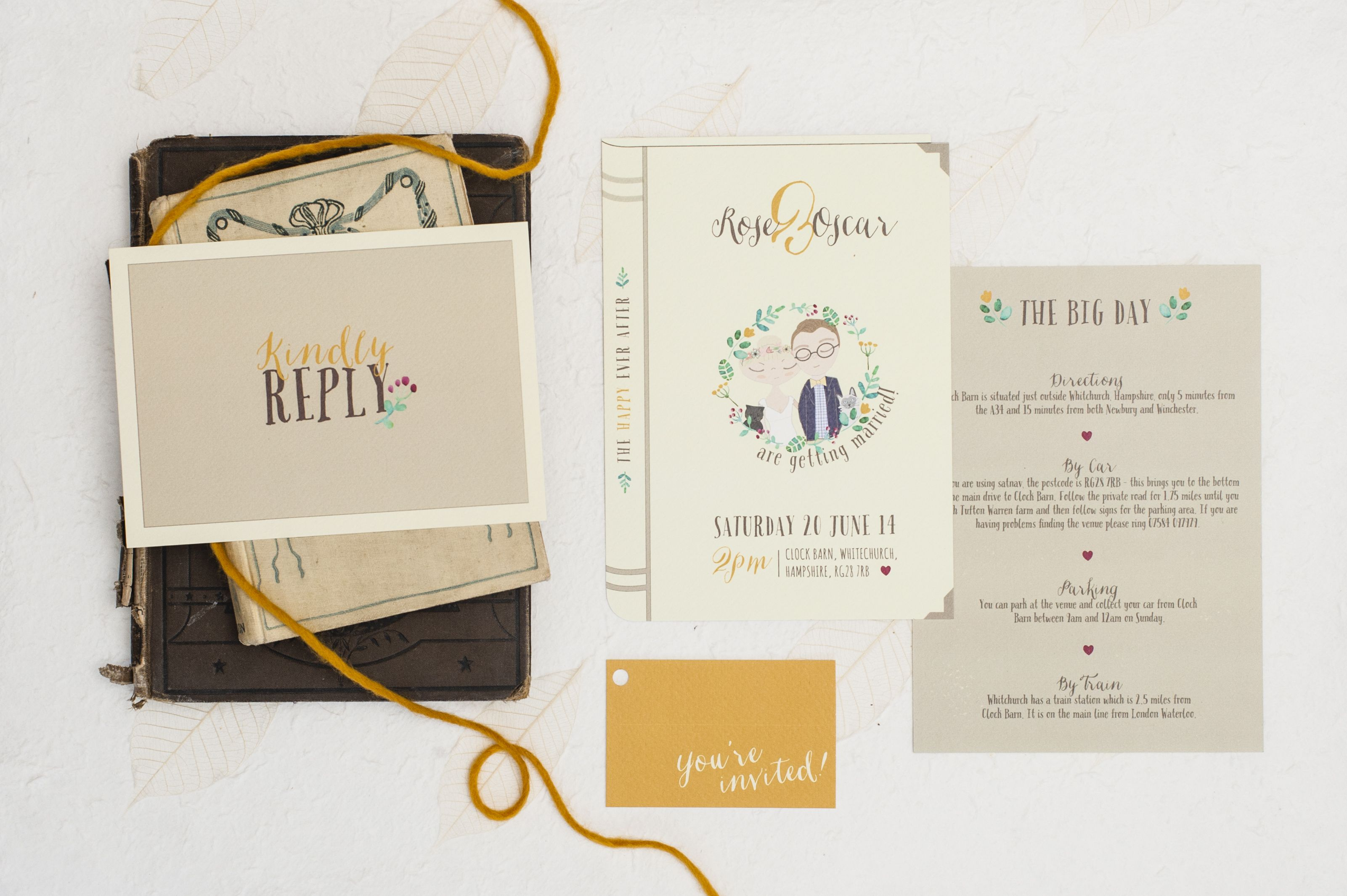 Happy Ever After\' Our modern & quirky wedding stationery, bride and ...