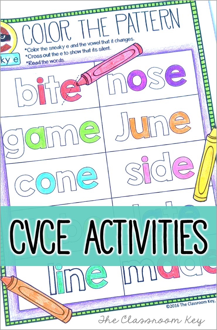 small resolution of CVCe phonics activities ($) worksheets