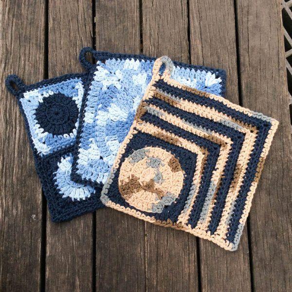 Crochet Patterns Trio Of Circle Potholders Potholders Sugar N