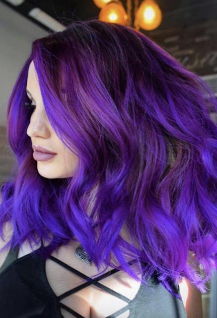 Purple Hair Dye For Dark Hair 2020 Bright Hair Colors Dyed Hair Purple Dark Purple Hair