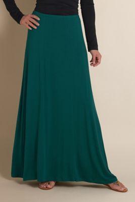 Beautiful skirt for fall and winter! - Versatile Knit Skirt - Soft Jersey Knit Skirt, Jersey Knit Maxi Skirt | Soft Surroundings