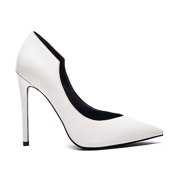 KENDALL + KYLIE Abi Heel (1,570 MXN) ❤ liked on Polyvore featuring shoes, pumps, heels, high heel court shoes, leather upper shoes, synthetic shoes, high heel pumps and heel pump