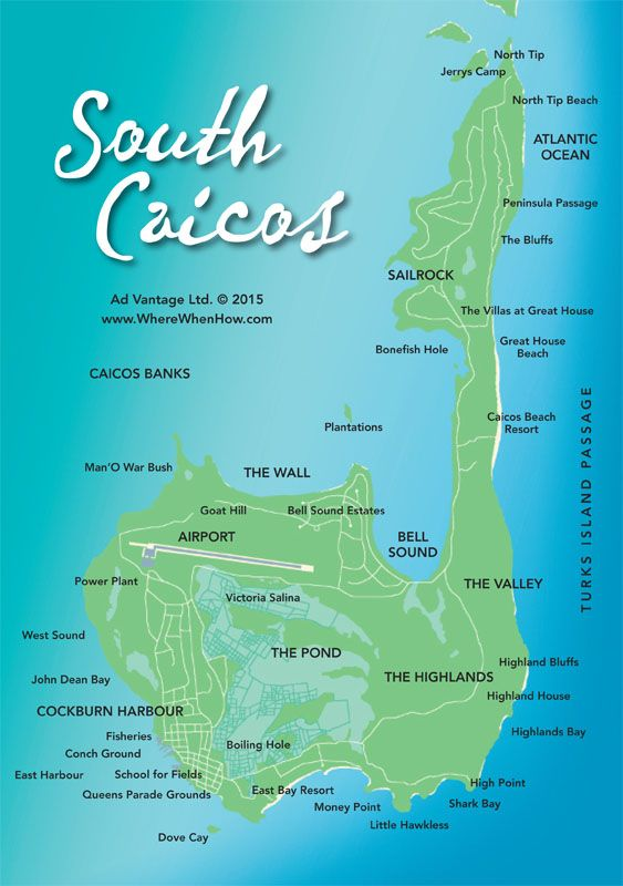 A Map Of South Caicos In The Turks And Caicos Islands Turks And