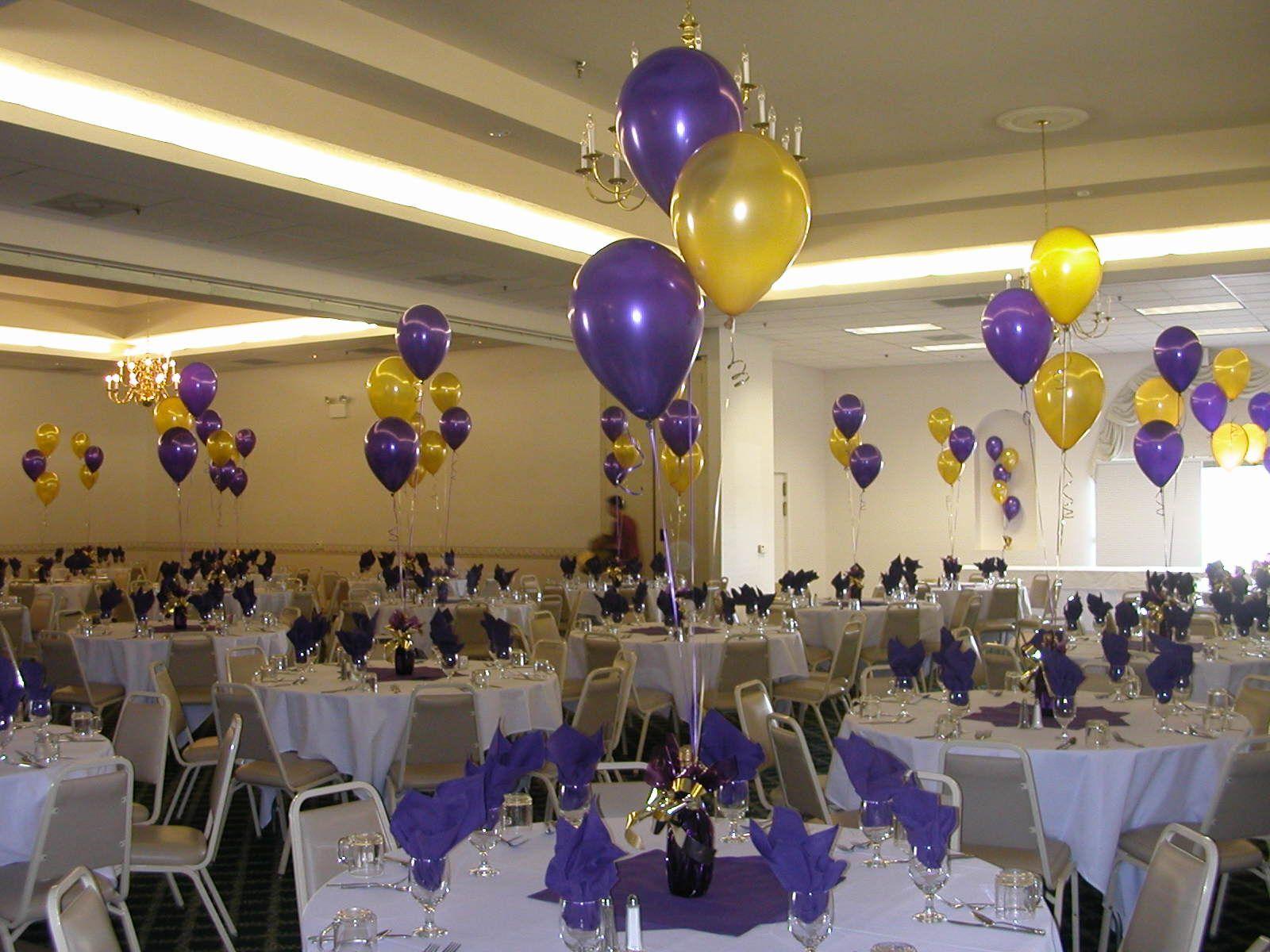 graduation centerpiece ideas | Balloon Decor of Central ...