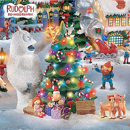 Rudolph The Red-Nosed Reindeer® Christmas Town Village Collection - christmas town decorations