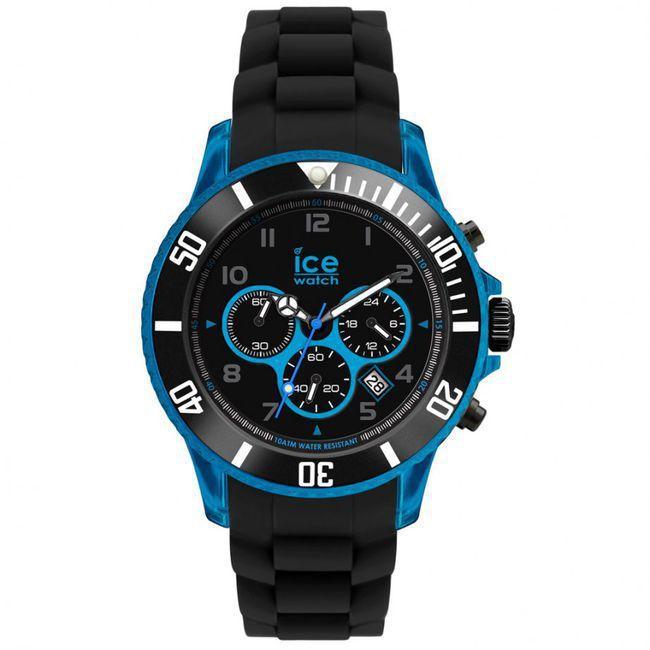 montre Homme Ice Watch, Chrono Electrik Black and Blue Big