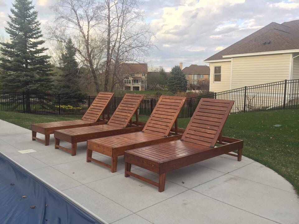 Diy Outdoor Chaise Lounge Chairs Our Projects Pinterest Pool