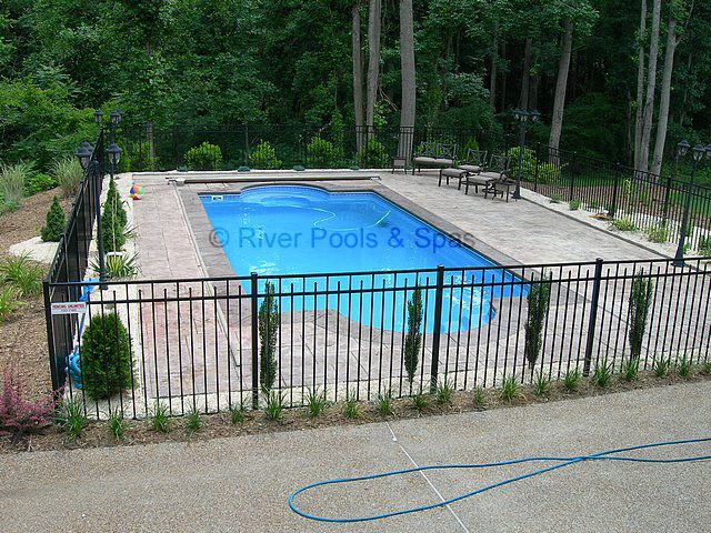 Fenced In Pool Ideas Pools Backyard Inground Backyard Pool Landscaping Rectangle Pool