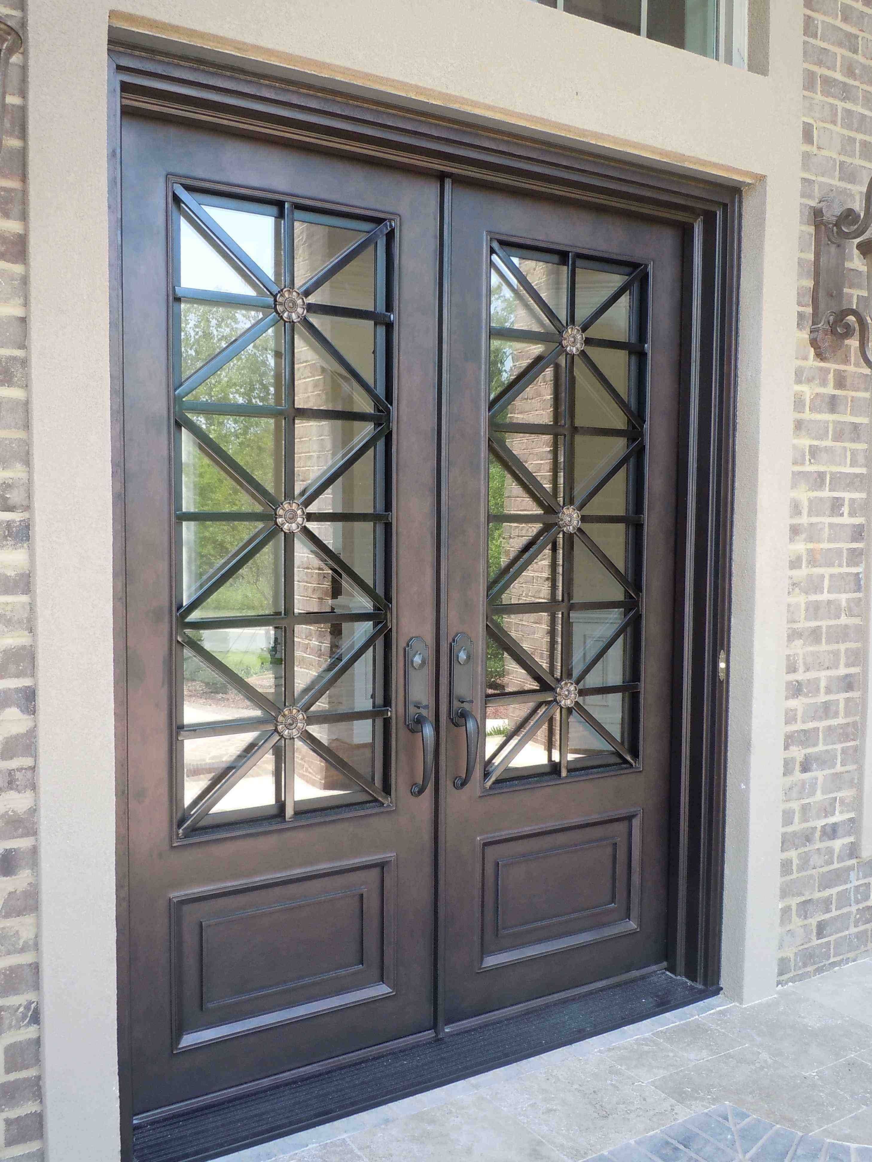 Transitional Look Wrought Iron Front Door Wrought Iron