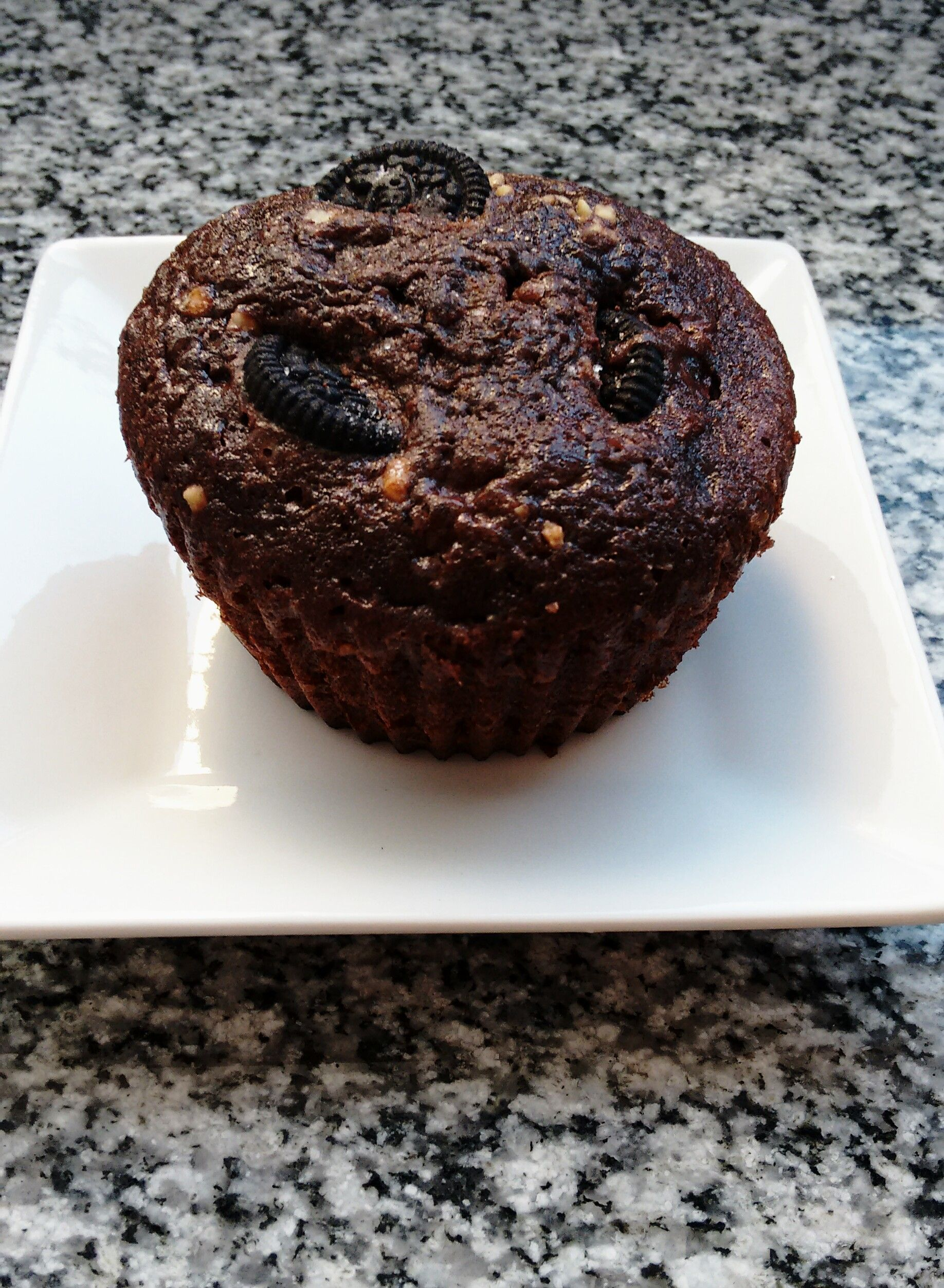 Brownie muffin with oreos <3