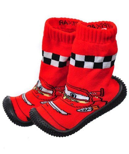 "Disney Cars ""McQueen"" Lil Runners Non-Skid Socks (Infant Boys Sizes 24M) - black/red, 24 months Disney. $7.99. Save 20%!"