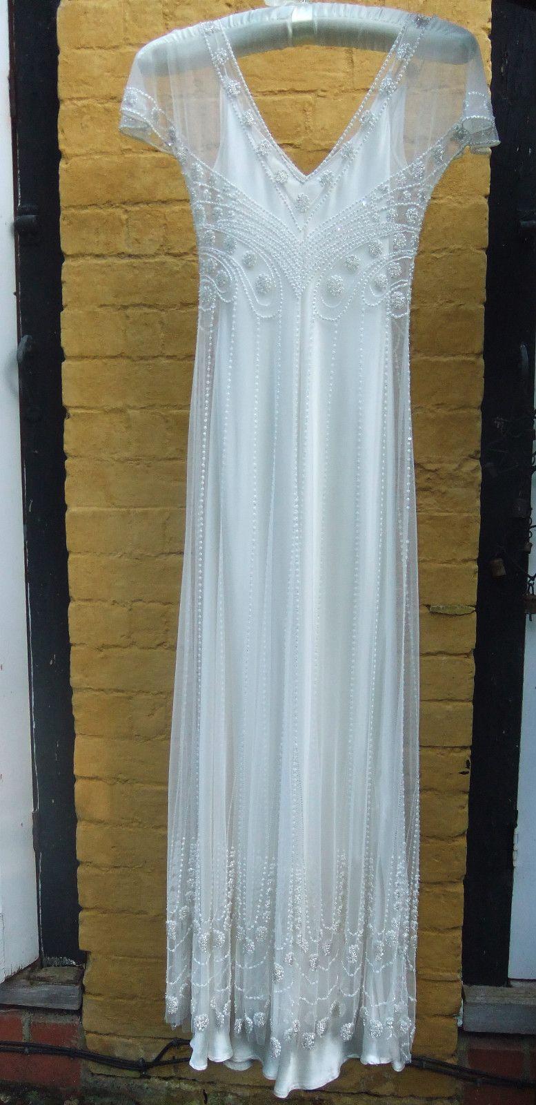 Jenny Packham Designer Wedding Dress Claire size 12 Vintage 1920s ...