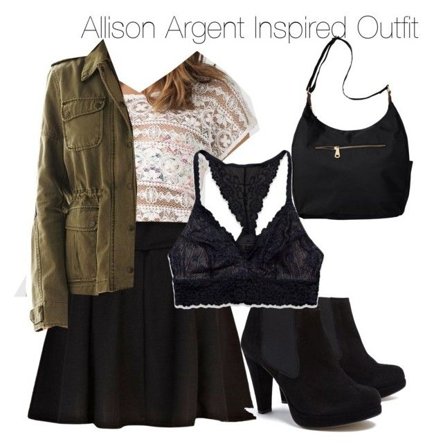 """""""Teen Wolf - Allison Argent Inspired Outfit"""" by staystronng ❤ liked on Polyvore featuring Old Navy, Monsoon, River Island, Ganni, Abercrombie & Fitch, Levi's, skirt, Boots, allisonargent and tw"""
