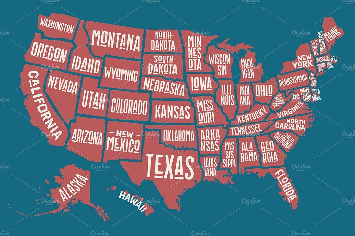 Map Of United States Of America Mapa De Estados Unidos Mapas Turismo