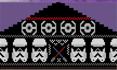 Star Wars Fair Isle Knitting Chart General Disaray Pinterest