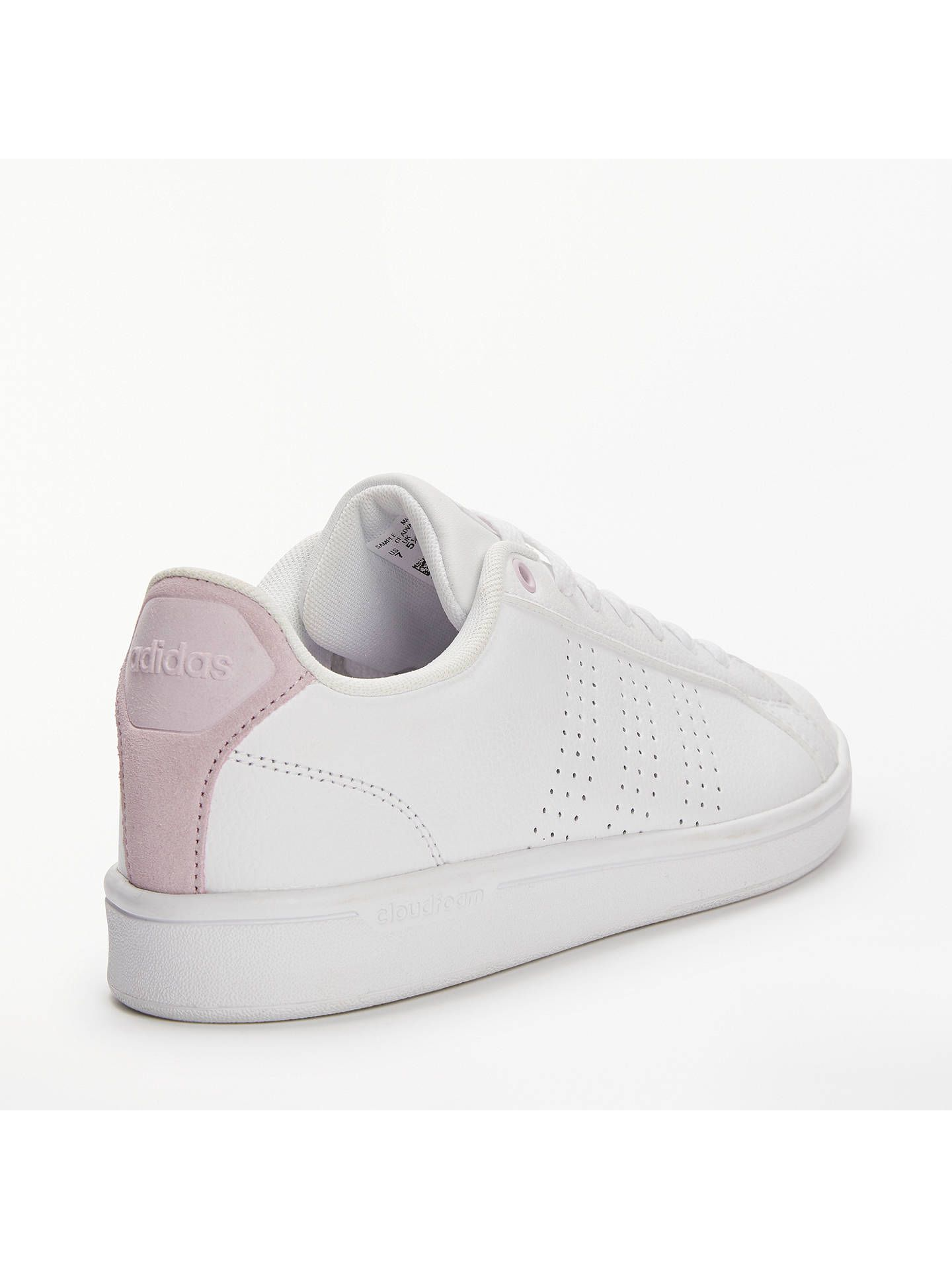 sale retailer 2c8fe 3f52e Buyadidas Neo Cloudfoam Advantage Womens Trainers, WhitePink, 4 Online at  johnlewis.com