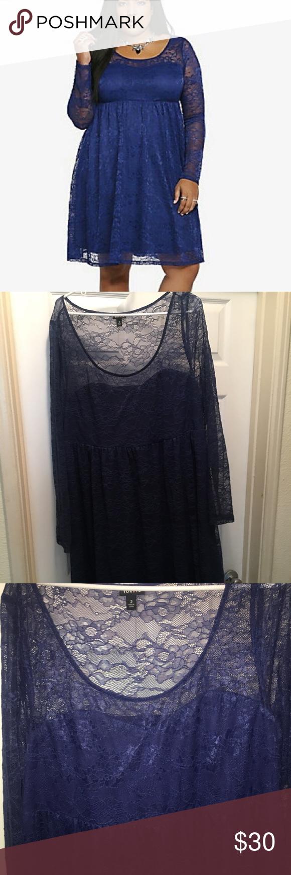 Lace dress torrid  Blue Lace Torrid Dress  My Posh Picks  Pinterest  Torrid