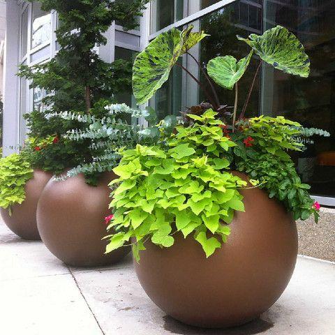 Globe Spherical Planter Pot Planter Pots Outdoor Outdoor