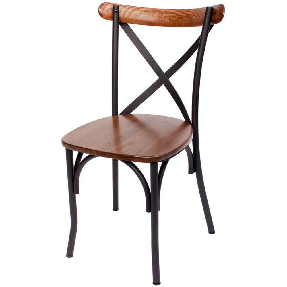 Henry Metal X Back Side Chair Js88cash Sb In 2020 Solid Wood Dining Chairs Cross Back Dining Chairs Dining Chairs