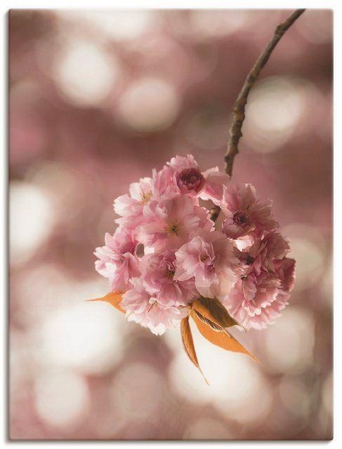 Photo of Kunstdruck Poster »UtArt: Japanische Kirschblüte in Love«