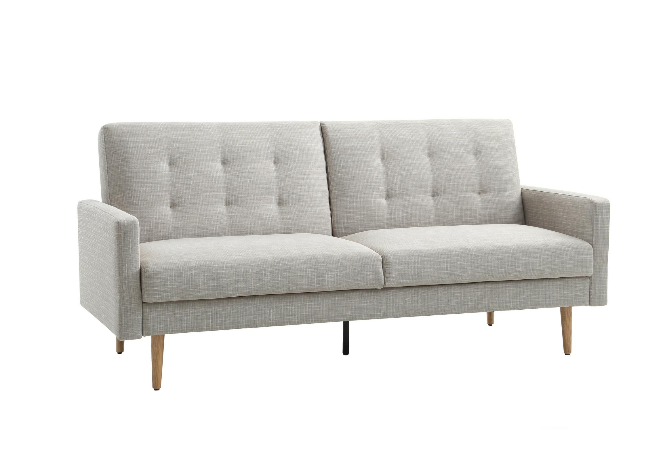 square sofa beds antique victorian and chairs contemporary bed with buttoned back high slim arms tapered wooden legs