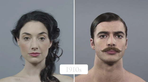 100 Years Of Men And Women's American Beauty In Under A Minute