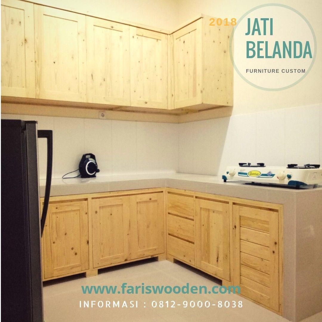 Kitchen Set Minimalis Kayu Jati Belanda Dengan Gambar