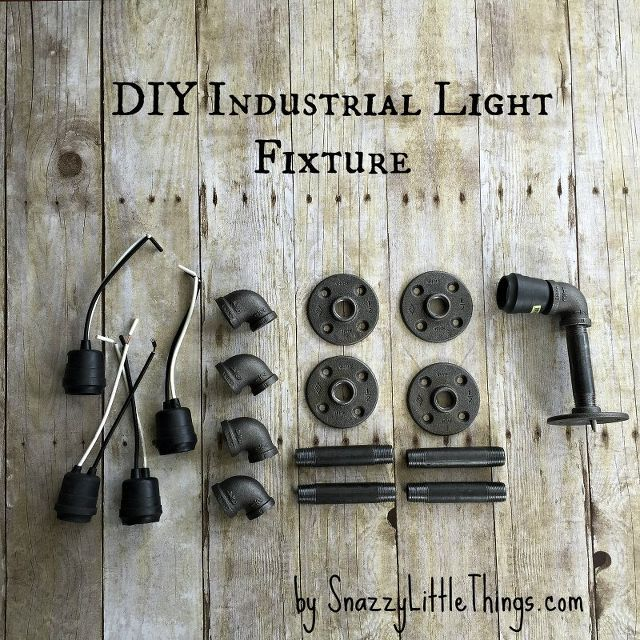 DIY Industrial Vanity Light = $67