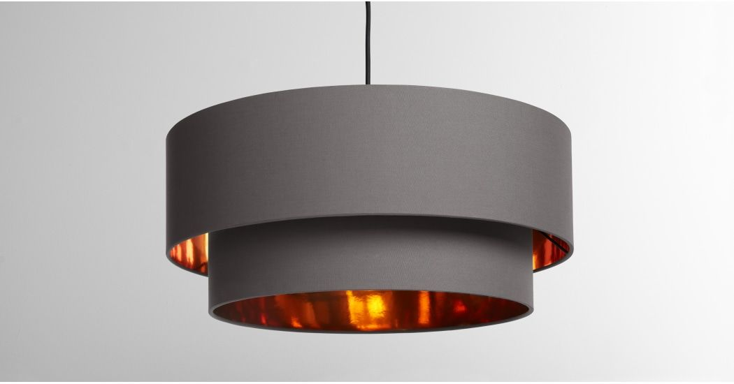 Made Grey Copper Lampshade Copper Lighting Ceiling Lamp