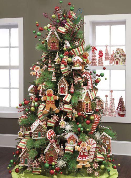 I Would Like A Cookie Or Gingerbread Tree For My Kitchen Love It Christmas Tree Themes Gingerbread Christmas Tree Christmas Tree