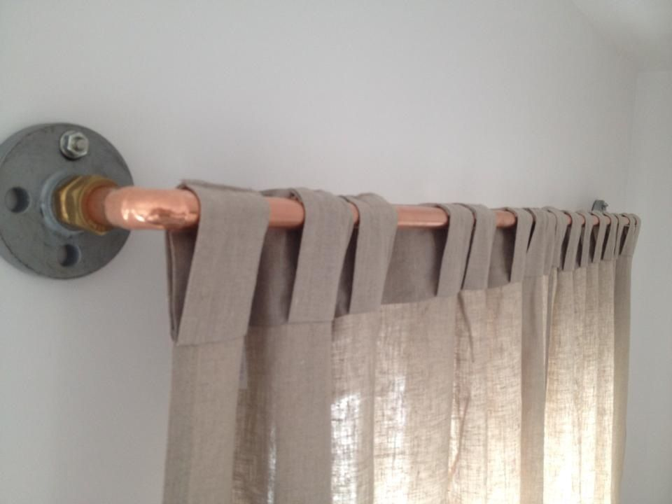 Diy Copper Pipe Curtain Rail Pretty Pleased With How They
